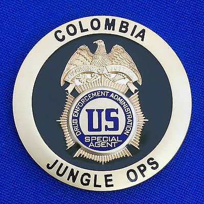 DEA Bogota Colombia Special Operations Narco-Terrorism Jungle Ops Challenge Coin