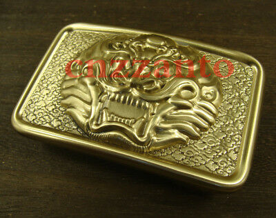 Heavy duty Brass Belt Buckles Plate Dragon pattern Classical for 42mm belt Z197