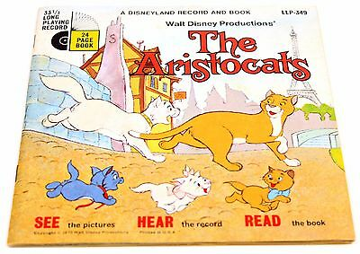The Aristocats - Disneyland Record and Book - 1970 - #349 Vintage