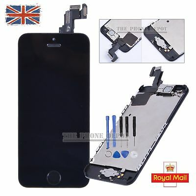 For iPhone 5C LCD Touch Screen Digitizer Complete Full Replacement Home button
