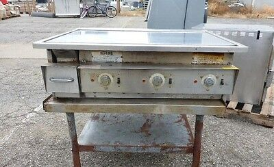 "SALE! 36"" Electric Keating Miraclean Commercial Grill Griddle Model# 36FLD"