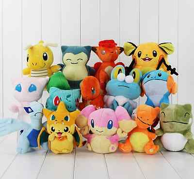 Rare Pokemon Collectible Plush Character Soft Toy Stuffed Doll Kids Gift