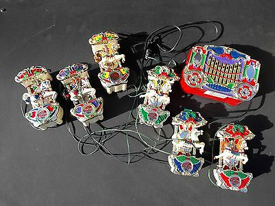vintage Mr Christmas Holiday Carousel calliope 6 musical horses 21 songs working