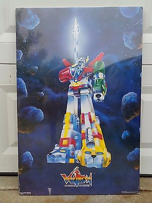 "ultra rare Voltron Defender of the Universe 1985 Western Graphics poster 32""x21"""