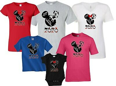 DISNEY CASTLE FAMILY VACATION 2019 Tshirt   MINNIE, MICKEY