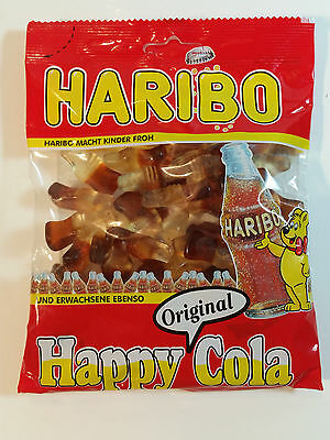 HARIBO HAPPY COLA - CANDY WINE GUMS 7oz - 200g - MADE IN GERMANY - BEST PRICE