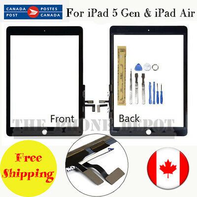For iPad 5th iPad Air Black Touch Screen Digitizer Glass Replaceme Assembly CA