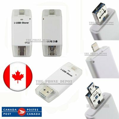 64GB USB iFlash Drive OTG Disk Memory Storage Stick For iPhone Android PC Canada