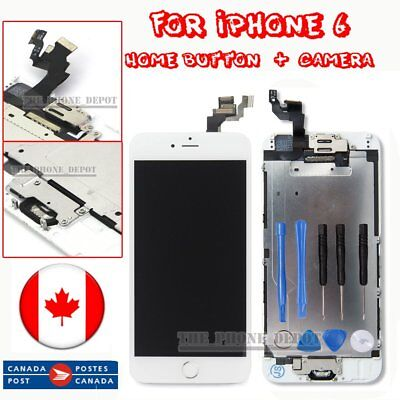 "Replacement For iPhone 6 4.7"" Digitizer LCD Touch Screen HomeButton&Camera White"