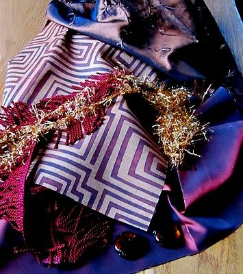 Collection 3 of Swank Ugly Textiles and Trim For Building Fantasy Monster Dolls