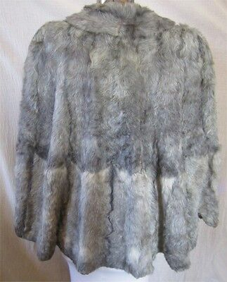 Vintage Silver Gray Fur Cape For Making Bears