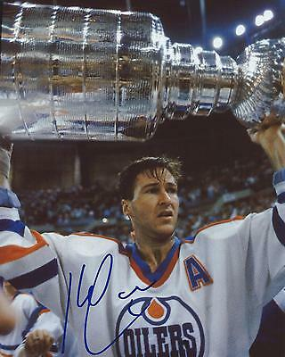 Kevin Lowe Signed 8x10 Photo Stanley Cup Edmonton Oilers Autographed COA