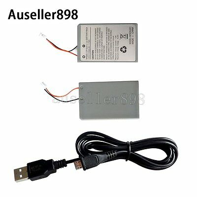 2*New Rechargeable Battery Pack for Sony Playstation PS4 Controller Cable