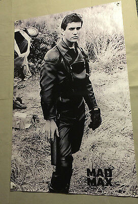 Mad Max banner jacket leather pants poster police MFP Mel Gibson car interceptor
