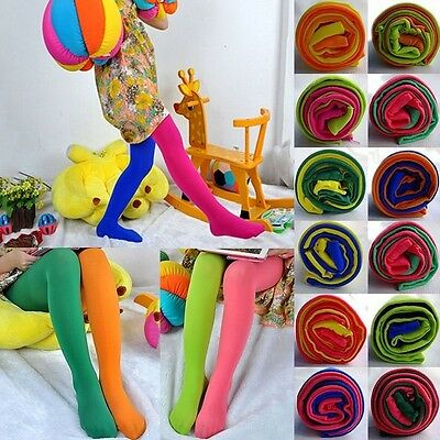 Toddler Kids Girls Pants Velvet Tights Trouser Pantyhose Stocking Candy Colorful
