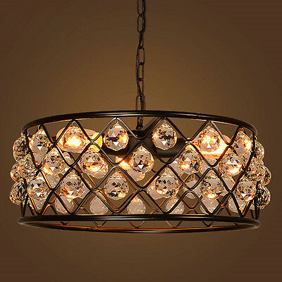 Rustic Sparkle Metal Net Shade Vintage Suspension Ceiling Lamp Pendant Light New