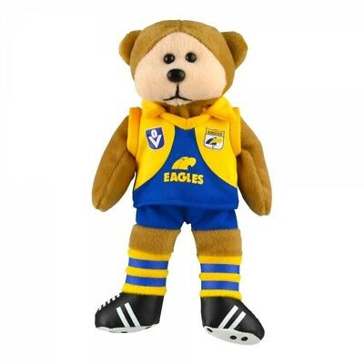 West Coast Eagles Heritage Player Bear  - Official AFL Beanie Kid 21cm