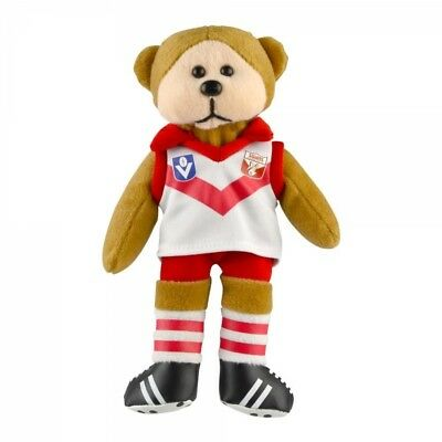Sydney Swans Heritage Player Bear  - Official AFL Beanie Kid 21cm