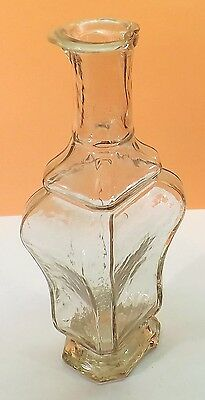 Fancy    PONTILED   CLEAR  GLASS  PERFUME  /  SCENT    Bottle