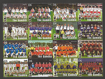 The Gambia #2827 Vf Nh Complete Team Set -- Euro 2004 Portugal