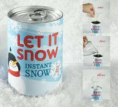 Let it snow - instant snow in a can