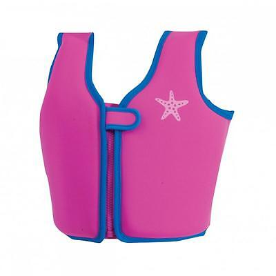Zoggs Child/Kids Buoyancy Aid Swimming Pool Flotation Vest In Pink For Swimming