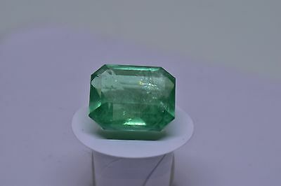 4.42ct Natural Colombian Emerald Octagonal cut Loose Gemstone