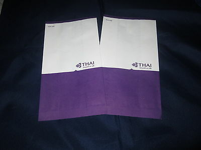 New-Vintage-Thai-Airways-x2-Air-Sickness-bags