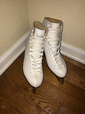 Riedell Leather Ice Figure Skates Women size 8