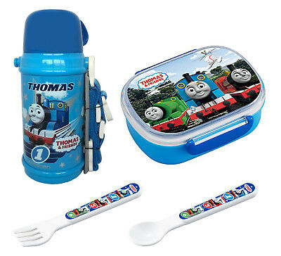 Thomas Set from Japan - Insulating Thermos, Lunch (Bento) Box, Spoon & Fork