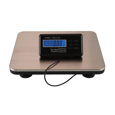 660lbs LCD AC Digital Floor Bench Scale Postal Platform Shipping 300KG Weight,US