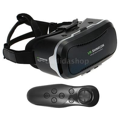 VR HEADSET + FREE Bluetooth REMOTE SHINECON V2.0 3D Virtual Reality Glasses O1L4