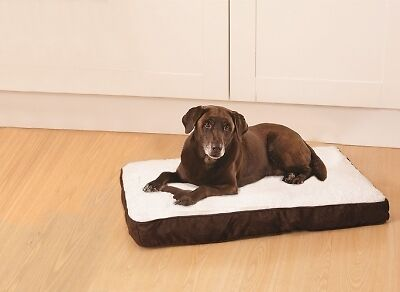90cm Deluxe Memory Foam Pet Bed Large Mattress/Cushion Fleece Cover Dog/Cat