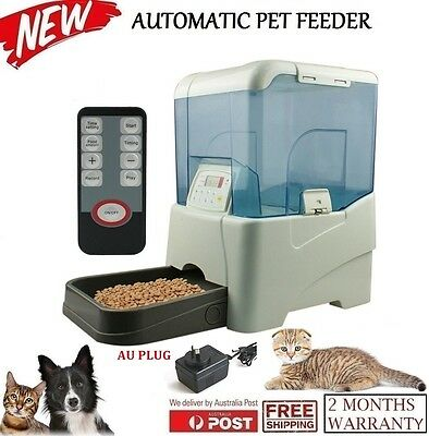 10.65 L Automatic Program Auto Digital Pet Cat Dog Feeder Food Bowl Dispenser