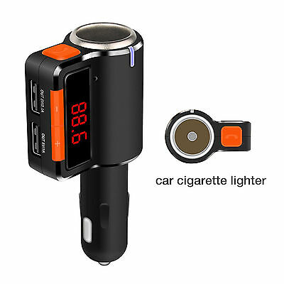 Bluetooth Car Cigarette Lighter FM Transmitter Radio Shipped from UK