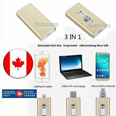 256/128/64/32G USB i-Flash Drive OTG Device Memory Stick for iPhone IOS Android