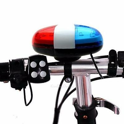 LED Bike Front Light With 120db Electric Horn Police Bicycle Warning Siren