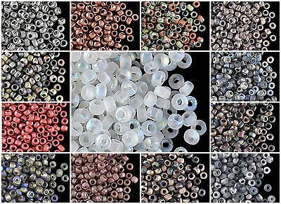 CHOOSE COLOR! 10gr 8/0 (cca 350pcs) Etched Seed Beads Czech Pressed Glass