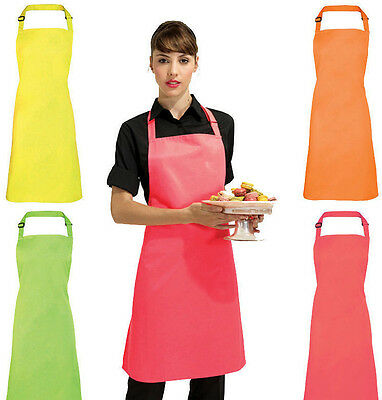 Adult Fluorescent Neon Electric Colour (Yellow/Green/Pink/Orange) Kitchen apron