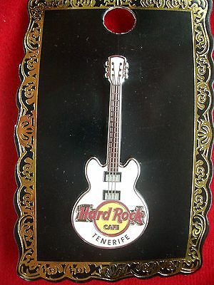HRC Hard Rock Cafe Tenerife Teneriffa Core Guitar White 3 String 2016