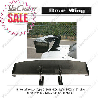 Carbon Rear Spoiler For ALL MODEL CAR Universal Voltexx Type 7 SWAN NECK GT WING