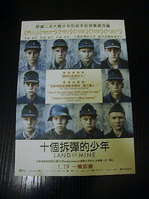 Land Of Mine - Sotto La Sabbia -Under Sandet A5 movie flyer Hong Kong cinema WW2