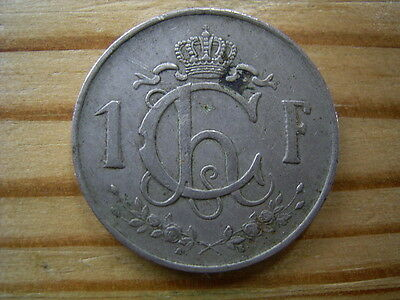 1952  Luxembourg 1 Franc Coin Collectable