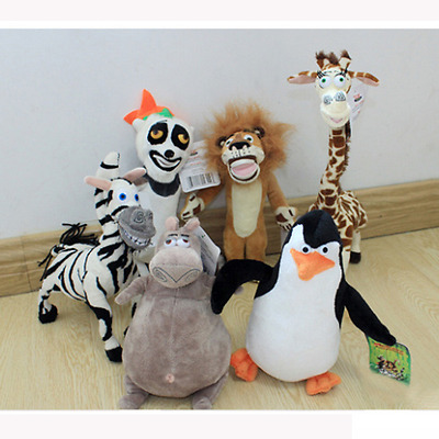 Trendy Madagascar plush toys kids child zebra Penguin hippo cotton animals