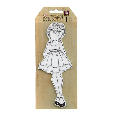 Julie Nutting  Doll Cling  Stamp - Ruffle Doll