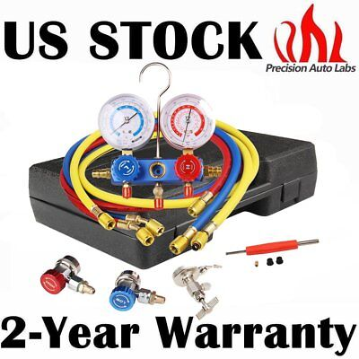 PAL NEW R134A HVAC A/C Refrigeration Kit AC Manifold Gauge Set Auto Serivice Kit