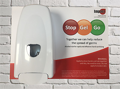 Alcohol hand gel SIGN DISPENSER 5 litre sanitiser refillable sanitizer