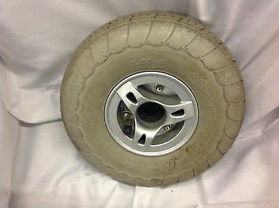 used Tyre on rim 3.00 x 4 loads of tread See Pics fits many scooters