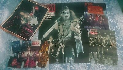 Kiss Lot 5 Posters Magazine Very Rare Giant Poster Gene Simmons Live Mag Rock
