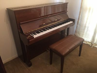 Excellent Condition Bernstein Upright Piano with Stool